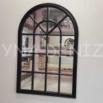 Milano Model Siyah Renk Dekoratif Pencere Ayna-1