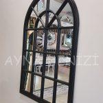 Milano Model Siyah Renk Dekoratif Pencere Ayna-11