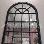 Milano Model Siyah Renk Dekoratif Pencere Ayna-12