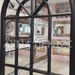 Milano Model Siyah Renk Dekoratif Pencere Ayna-15