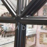 Milano Model Siyah Renk Dekoratif Pencere Ayna-16