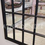 Milano Model Siyah Renk Dekoratif Pencere Ayna-19