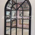 Milano Model Siyah Renk Dekoratif Pencere Ayna-2