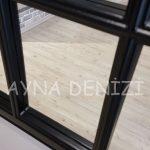 Milano Model Siyah Renk Dekoratif Pencere Ayna-20