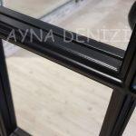 Milano Model Siyah Renk Dekoratif Pencere Ayna-21
