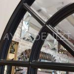 Milano Model Siyah Renk Dekoratif Pencere Ayna-22