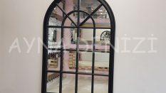 Milano Model Siyah Renk Dekoratif Pencere Ayna