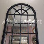 Milano Model Siyah Renk Dekoratif Pencere Ayna-4