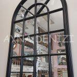 Milano Model Siyah Renk Dekoratif Pencere Ayna-5