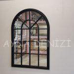 Milano Model Siyah Renk Dekoratif Pencere Ayna-7