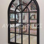 Milano Model Siyah Renk Dekoratif Pencere Ayna-9