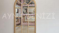 Ravenna Model Altın Renk Dekoratif Pencere Ayna