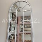 Ravenna Model Gümüş Renk Dekoratif Pencere Ayna-10