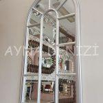Ravenna Model Gümüş Renk Dekoratif Pencere Ayna-12