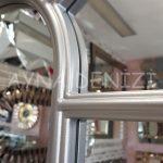 Ravenna Model Gümüş Renk Dekoratif Pencere Ayna-13