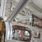 Ravenna Model Gümüş Renk Dekoratif Pencere Ayna-15