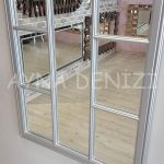 Ravenna Model Gümüş Renk Dekoratif Pencere Ayna-17