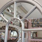 Ravenna Model Gümüş Renk Dekoratif Pencere Ayna-20
