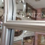 Ravenna Model Gümüş Renk Dekoratif Pencere Ayna-21