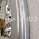 Ravenna Model Gümüş Renk Dekoratif Pencere Ayna-22