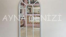 Ravenna Model Gümüş Renk Dekoratif Pencere Ayna