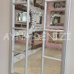 Ravenna Model Gümüş Renk Dekoratif Pencere Ayna-24