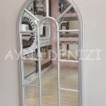 Ravenna Model Gümüş Renk Dekoratif Pencere Ayna-3