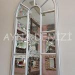 Ravenna Model Gümüş Renk Dekoratif Pencere Ayna-5