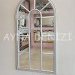 Ravenna Model Gümüş Renk Dekoratif Pencere Ayna-6