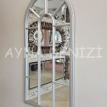 Ravenna Model Gümüş Renk Dekoratif Pencere Ayna-8