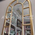 Bergamo Model Altın Renk Dekoratif Pencere Ayna-14