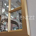 Bergamo Model Altın Renk Dekoratif Pencere Ayna-17