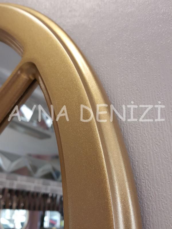 Bergamo Model Altın Renk Dekoratif Pencere Ayna-18
