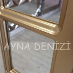 Bergamo Model Altın Renk Dekoratif Pencere Ayna-21