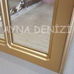 Bergamo Model Altın Renk Dekoratif Pencere Ayna-22