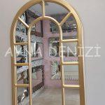 Bergamo Model Altın Renk Dekoratif Pencere Ayna-7