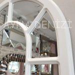 Bergamo Model Beyaz Renk Dekoratif Pencere Ayna-17