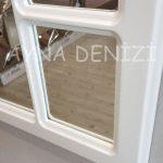 Bergamo Model Beyaz Renk Dekoratif Pencere Ayna-19