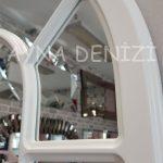 Bergamo Model Beyaz Renk Dekoratif Pencere Ayna-22