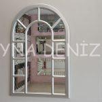 Bergamo Model Gümüş Renk Dekoratif Pencere Ayna-1