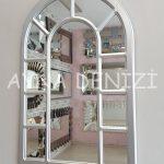 Bergamo Model Gümüş Renk Dekoratif Pencere Ayna-11