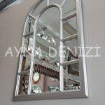 Bergamo Model Gümüş Renk Dekoratif Pencere Ayna-15
