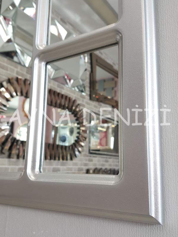 Bergamo Model Gümüş Renk Dekoratif Pencere Ayna-17