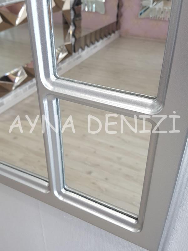 Bergamo Model Gümüş Renk Dekoratif Pencere Ayna-18