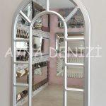 Bergamo Model Gümüş Renk Dekoratif Pencere Ayna-2