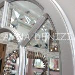 Bergamo Model Gümüş Renk Dekoratif Pencere Ayna-20