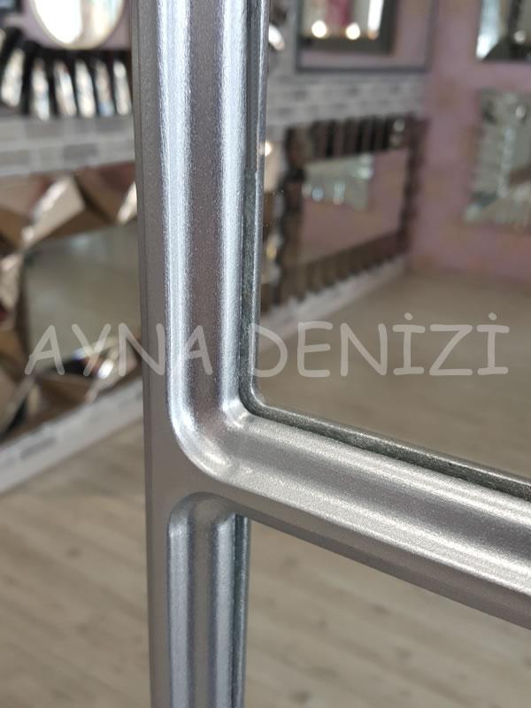 Bergamo Model Gümüş Renk Dekoratif Pencere Ayna-23