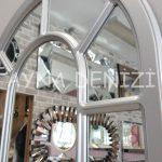 Bergamo Model Gümüş Renk Dekoratif Pencere Ayna-24