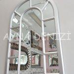 Bergamo Model Gümüş Renk Dekoratif Pencere Ayna-5