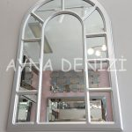 Bergamo Model Gümüş Renk Dekoratif Pencere Ayna-6